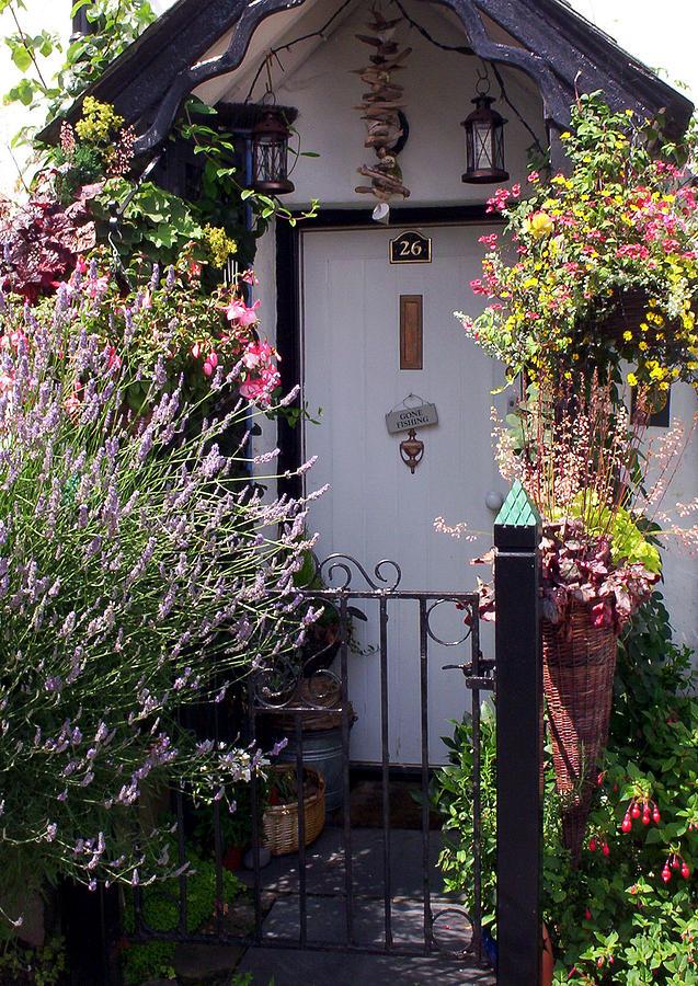 Clovelly Photograph - Summer Flowers Clovelly Devon by Rodger Insh