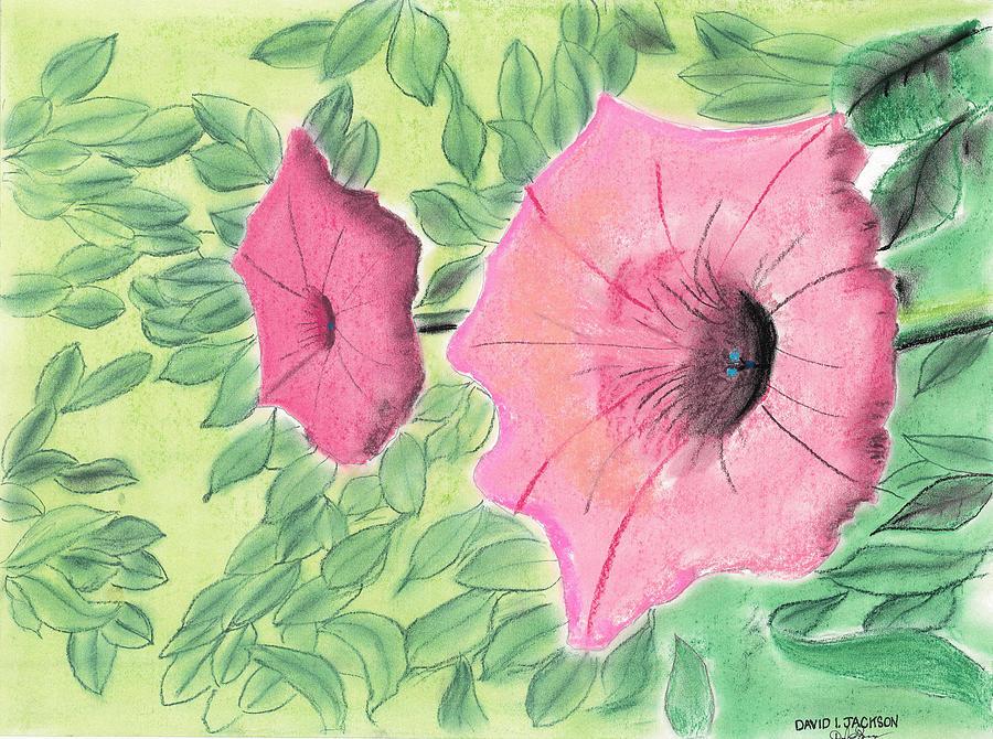 Flowers Pastel - Summer Flowers by David Jackson
