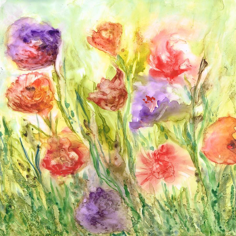 Flowers Painting - Summer Flowers by Rosie Brown