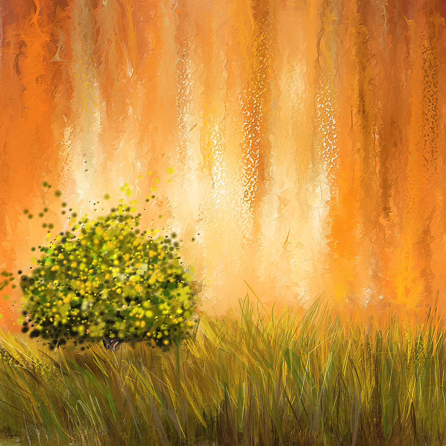 Summer- Four Seasons Wall Art Painting by Lourry Legarde
