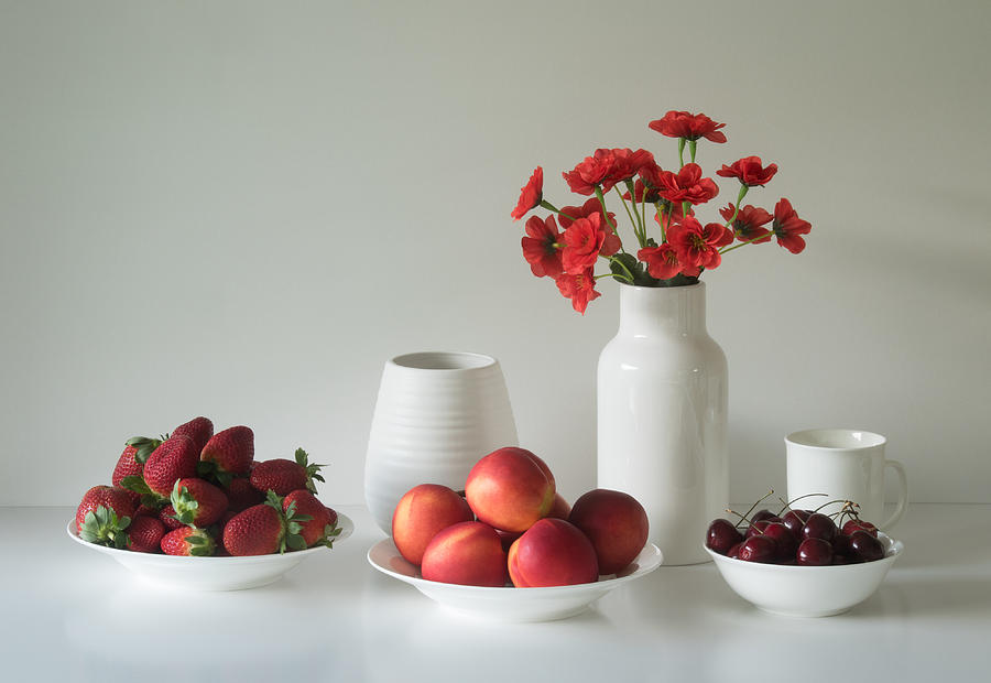Fruit Photograph - Summer Fruits by Jacqueline Hammer