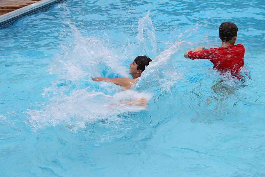 Swim Photograph - Summer Fun by Carolyn Ricks