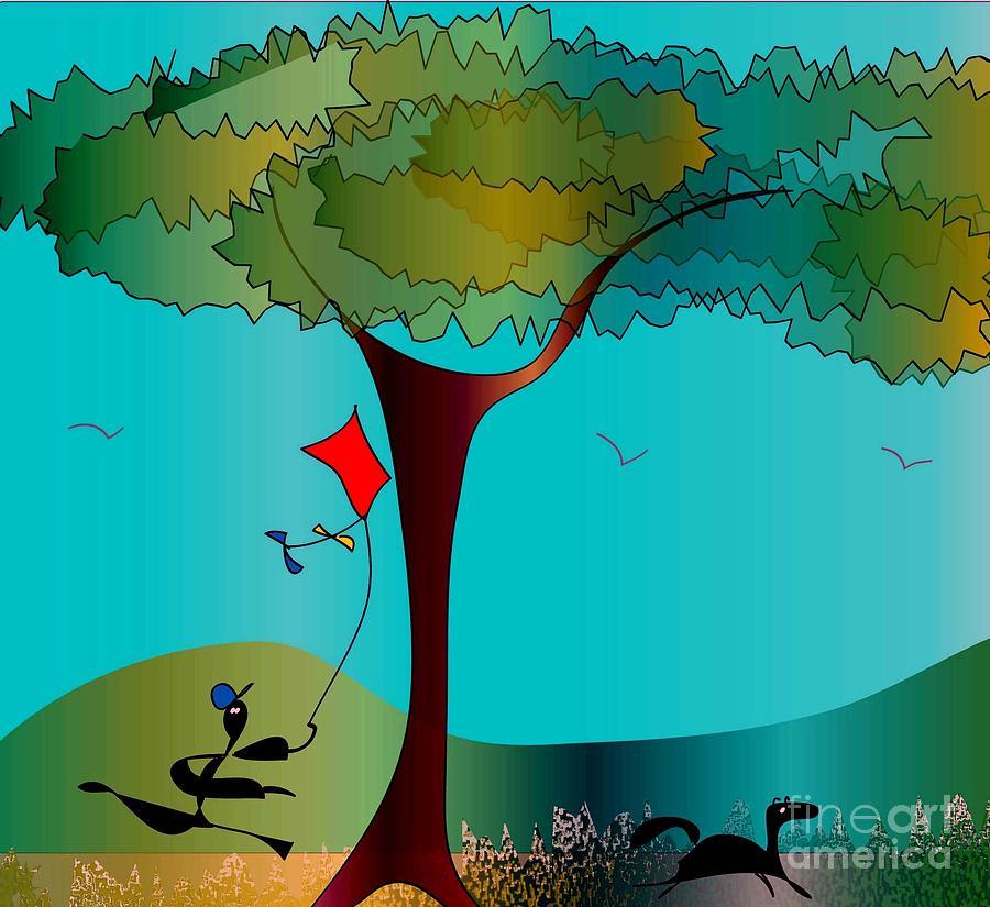 Tree Digital Art - Summer Fun by Iris Gelbart