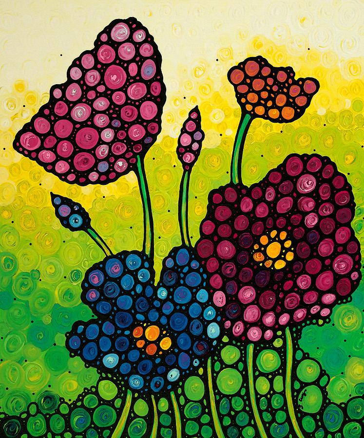 Summer Painting - Summer Garden 2 by Sharon Cummings