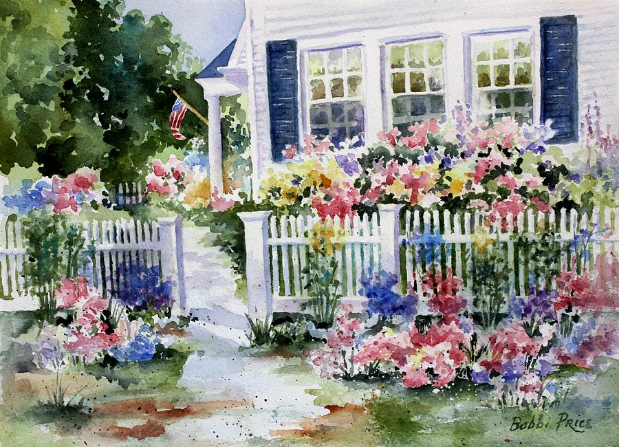 Watercolors Painting - Summer Garden by Bobbi Price