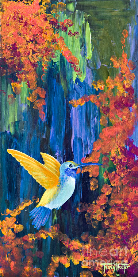 Hummer Painting - Summer Garden by Tracy L Teeter