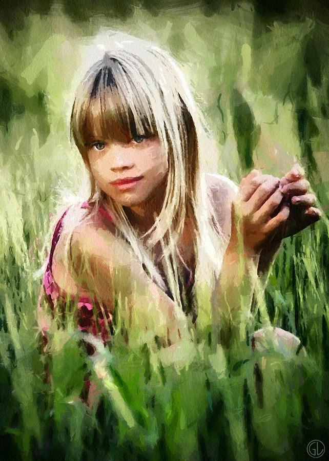 Girl Digital Art - Summer Girl by Gun Legler