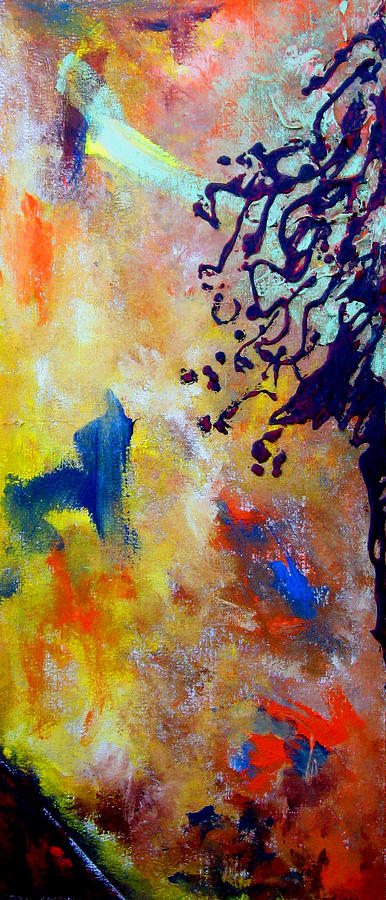 Abstract Painting - Summer Heat by Beverly  Koski