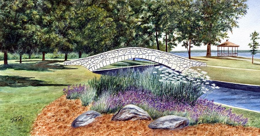 Landscape Painting - Summer In Doty Park by Thomas Kuchenbecker
