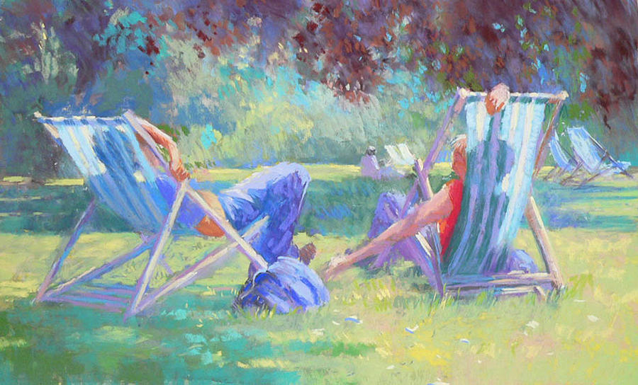 Summer Painting - Summer In St James Park by Jackie Simmonds