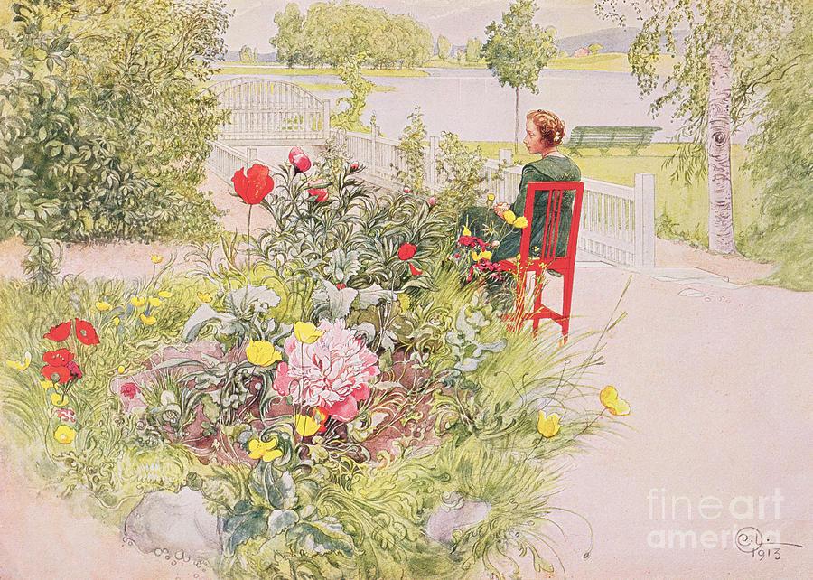 Carl Larsson Painting - Summer In Sundborn by Carl Larsson