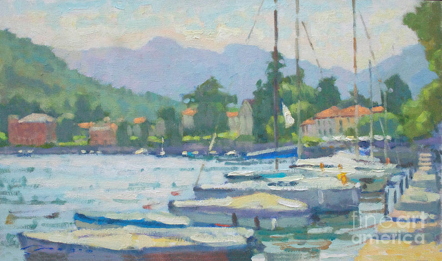 Lenno Painting - Summer In The Afternoon by Jerry Fresia