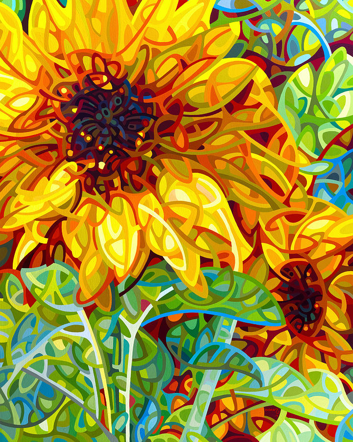 Summer Painting - Summer In The Garden by Mandy Budan