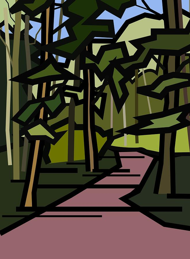 Woods Painting - Summer In The Woods by Kenneth North