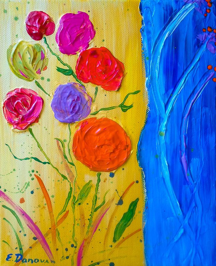 Bright Flowers Painting - Summer Joy by Eliza Donovan