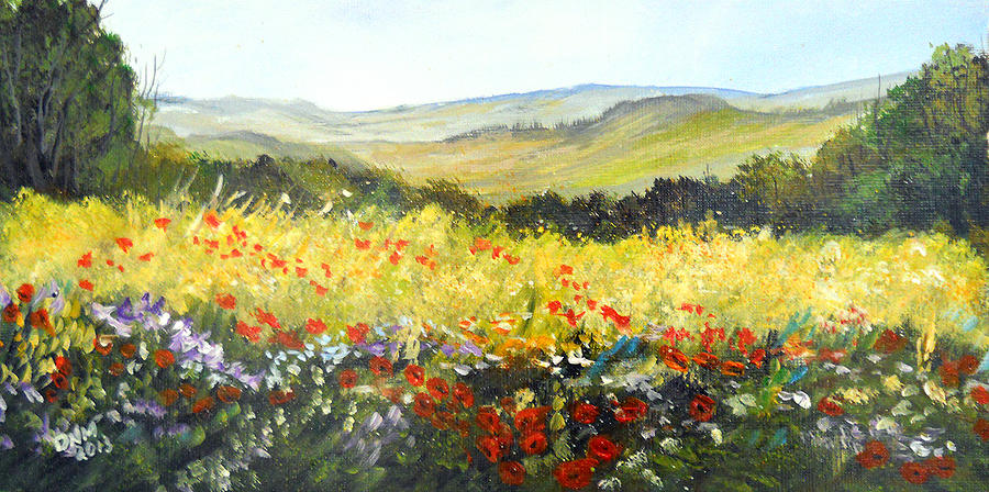 Landscape Painting - Summer Landscape Dream by Dorothy Maier