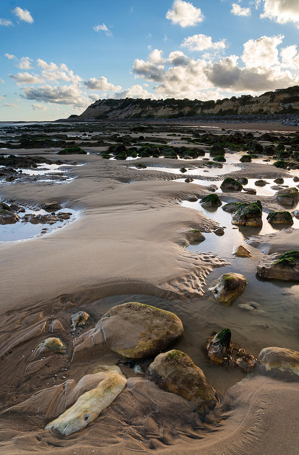 Landscape Photograph - Summer Landscape With Rocks On Beach During Late Evening And Low by Matthew Gibson