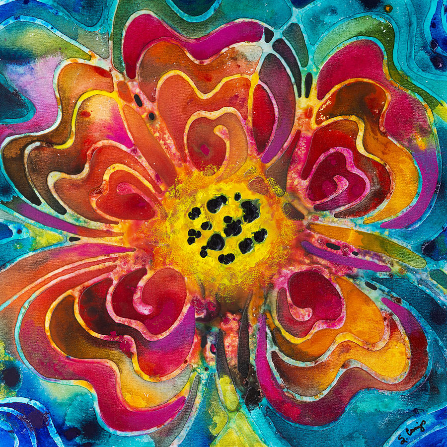 Colorful Painting - Colorful Flower Art - Summer Love By Sharon Cummings by Sharon Cummings