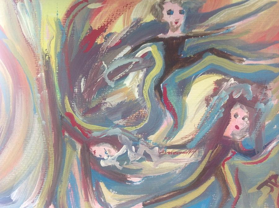 Mad Painting - Summer Madness by Judith Desrosiers