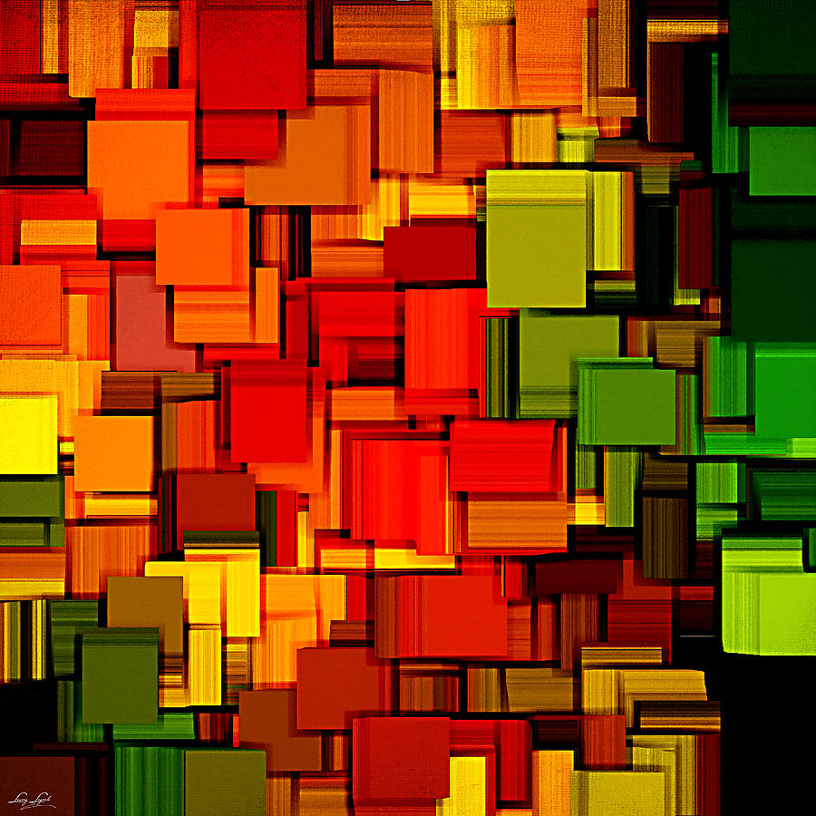 Abstract Digital Art - Summer Modern Abstract Art Xviii by Lourry Legarde