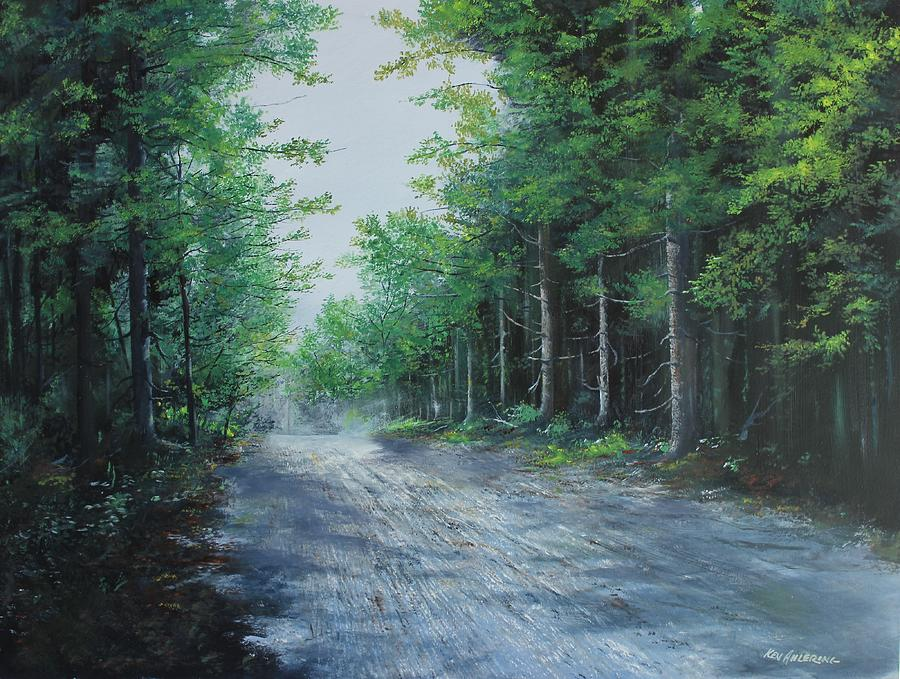 Vermont Painting - Summer Morning by Ken Ahlering