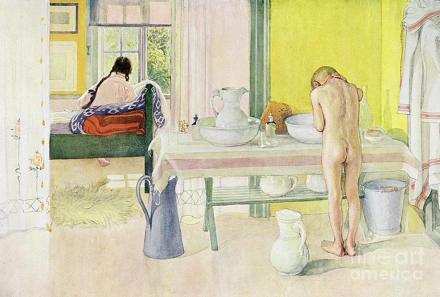 Carl Larsson Painting - Summer Morning Pub In Lasst Licht Hinin Let In More Light by Carl Larsson