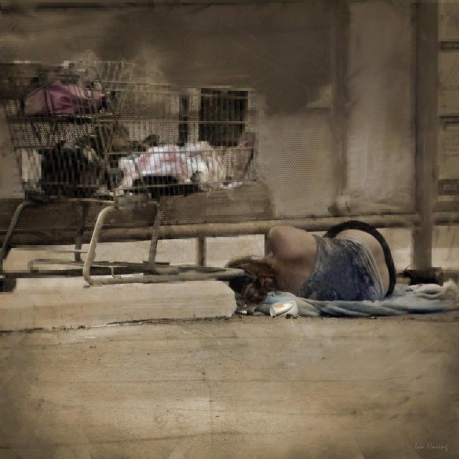 Homeless Photograph - Summer No Vacation by Lin Haring