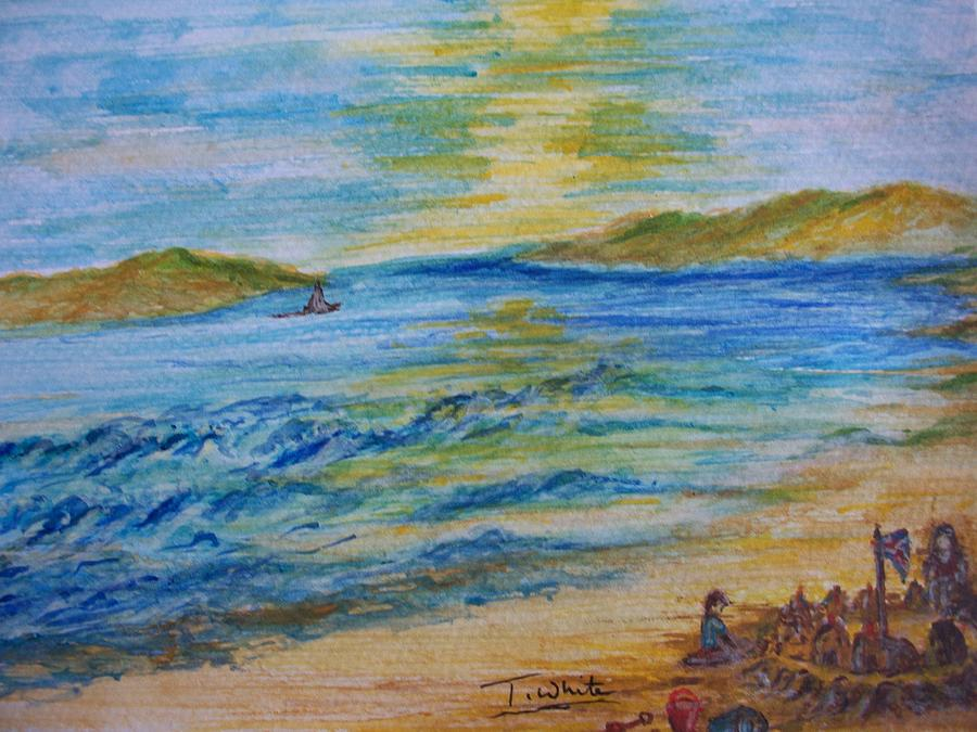 Seascape Painting - Summer/ North Wales  by Teresa White
