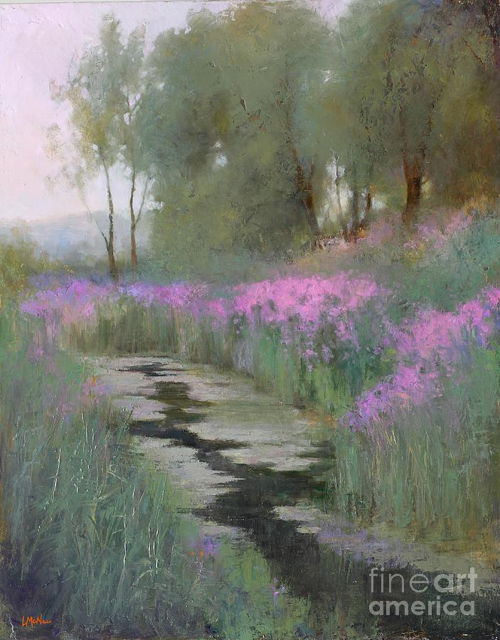 Landscape Oil Painting - Summer Oasis  by Lori  McNee
