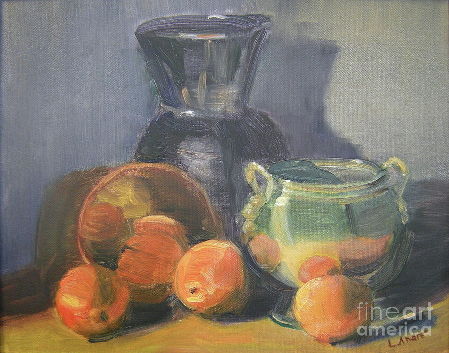 Still Life Painting - Summer Oranges by Lilibeth Andre