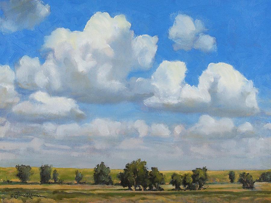 Landscape Painting - Summer Pasture by Bruce Morrison