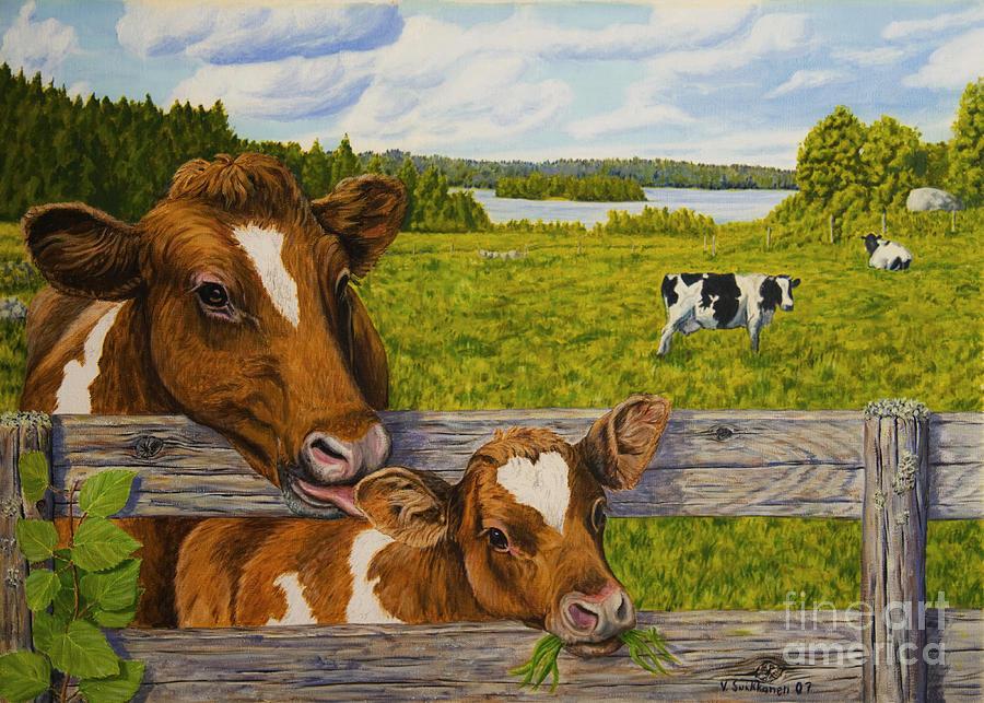 Artist Painting - Summer Pasture by Veikko Suikkanen