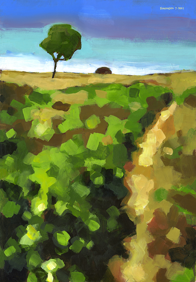 Summer Painting - Summer Path by Douglas Simonson