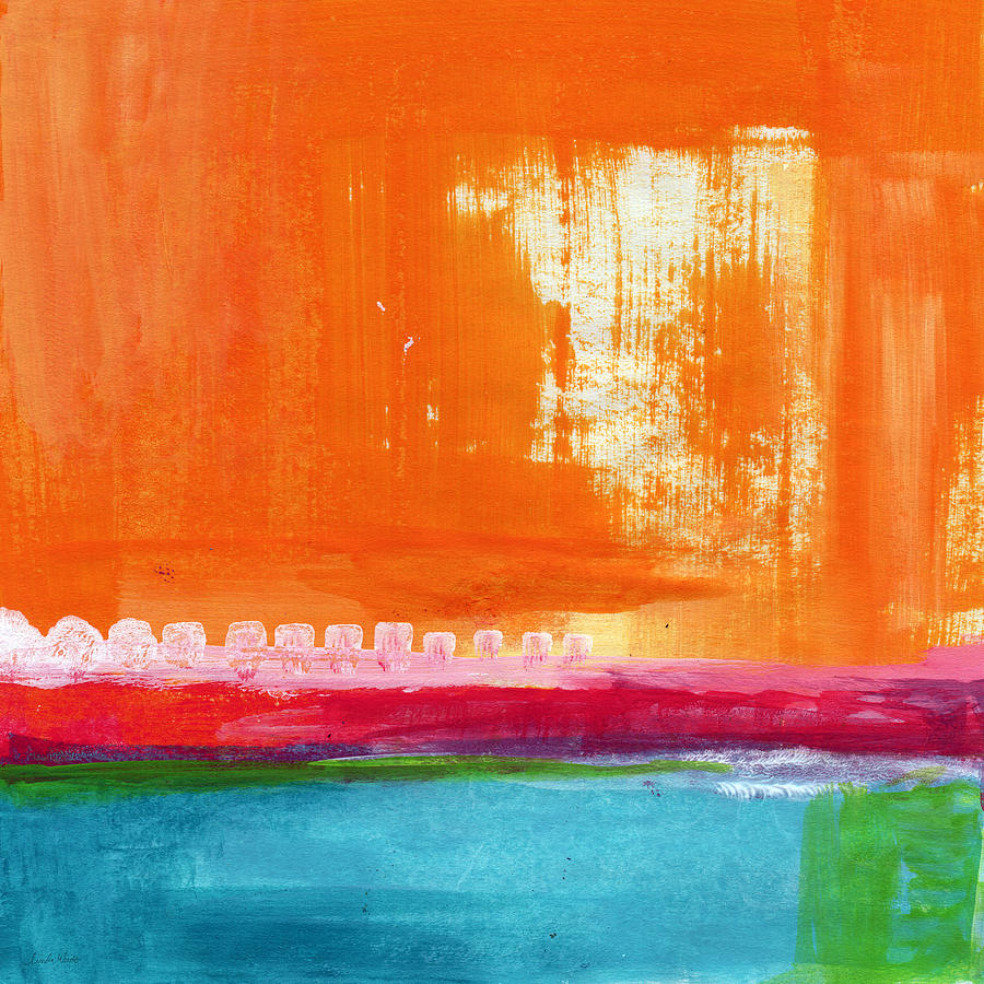 Summer Picnic- Colorful Abstract Art Painting