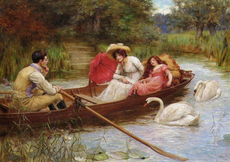 Summer Pleasures On The River Digital Art - Summer Pleasures On The River by George Sheridan Knowles