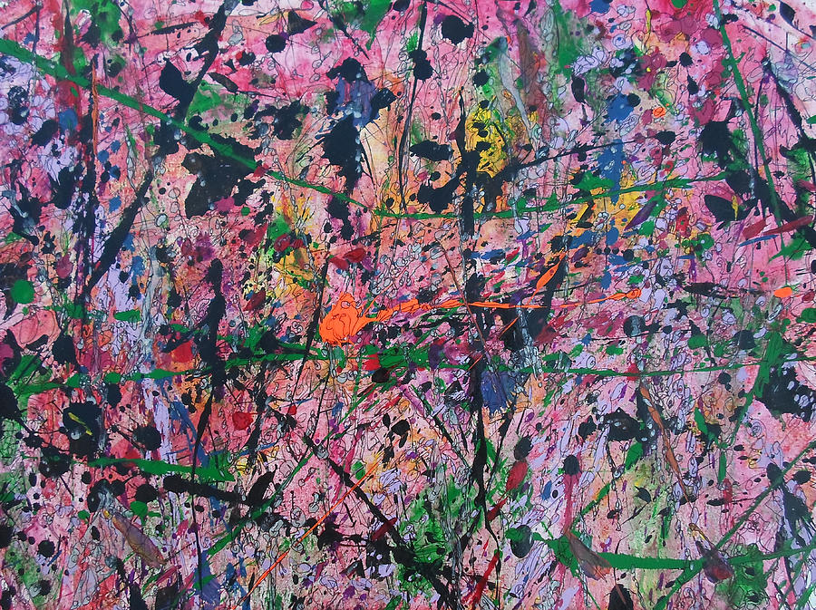 Acrylic Painting - Summer Rain by Ronda Stephens