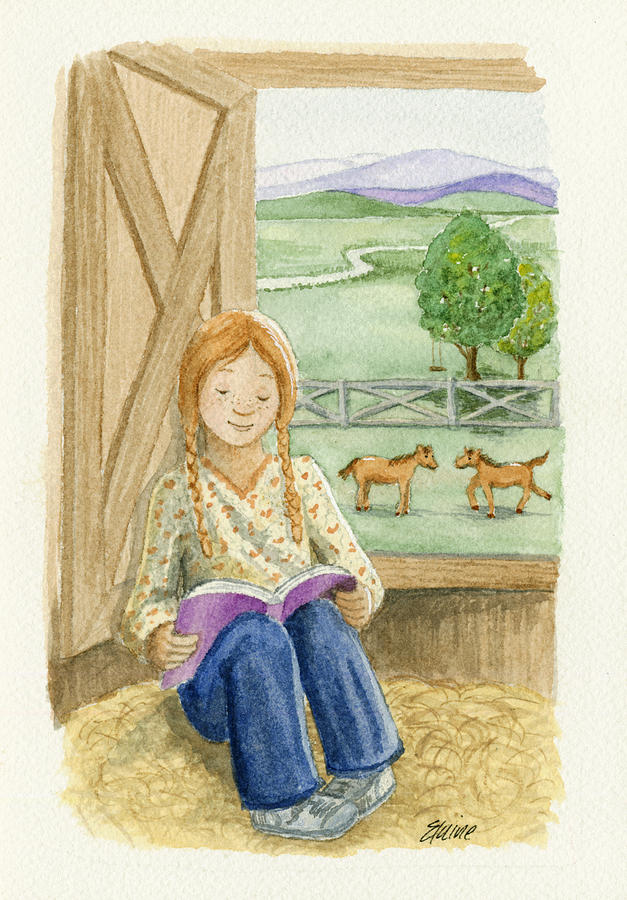 Barn Painting - Summer Reading by Elaine Allen