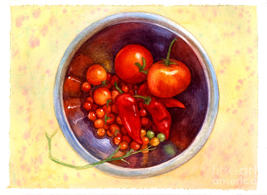 Tomatos Painting - Summer Reds by Isabella Kung