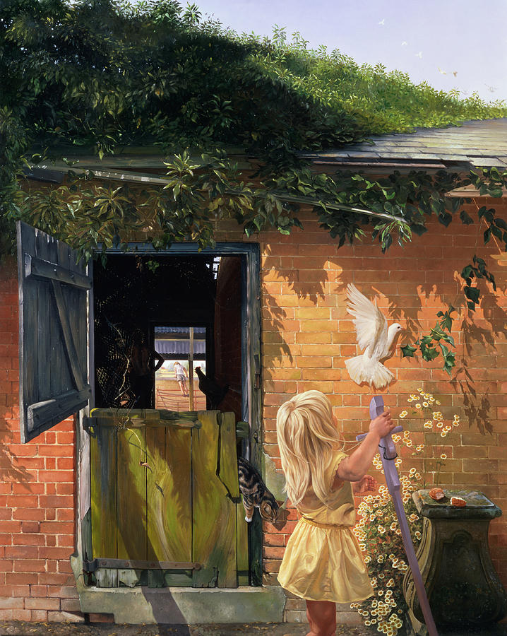 Roof Painting - Summer Reflection by Timothy  Easton