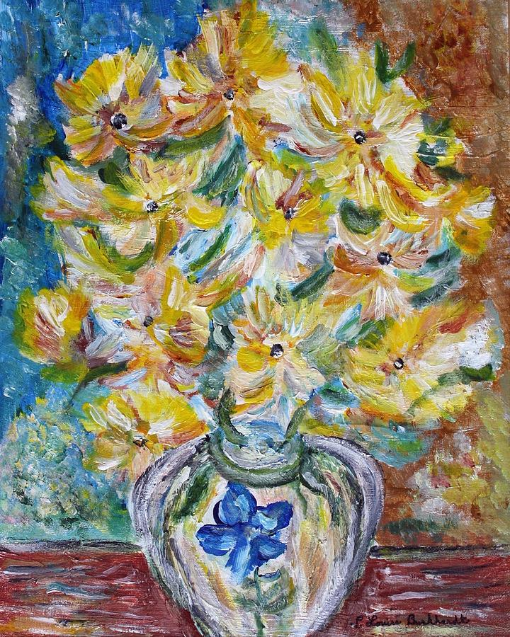Flowers Painting - Summer Reflections by Louise Burkhardt