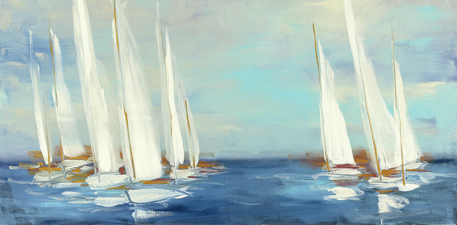Abstract Painting - Summer Regatta by Julia Purinton