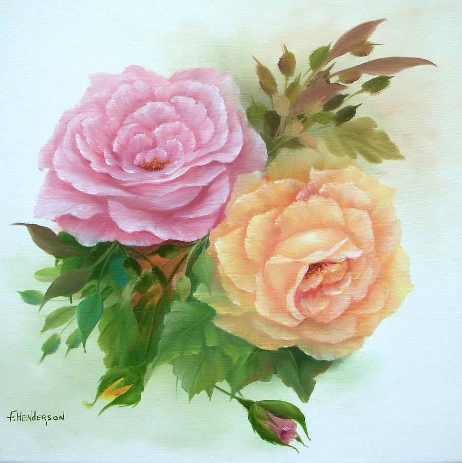 Roses Painting - Summer Roses by Francine Henderson