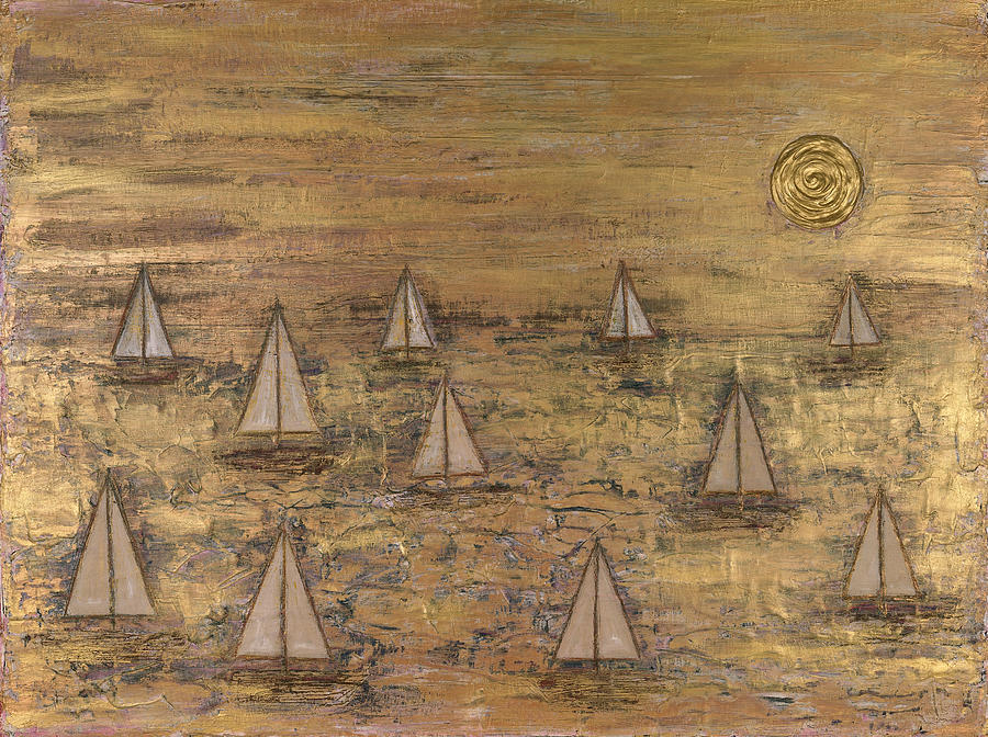 Gold Painting - Summer Sail by James Davis