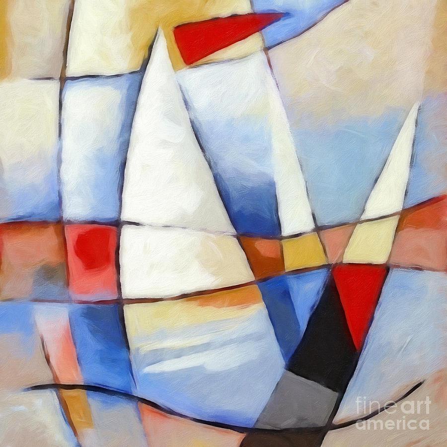 Sails Painting - Summer Sea by Lutz Baar