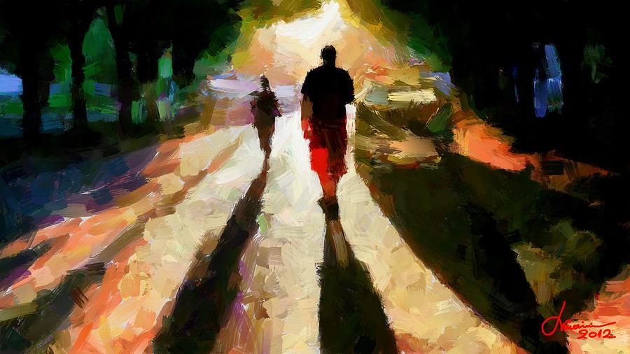 Shadows Digital Art - Summer Shadows Tnm by Vincent DiNovici