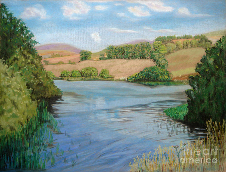 Landscape Painting - Summer Solitude by Yvonne Johnstone