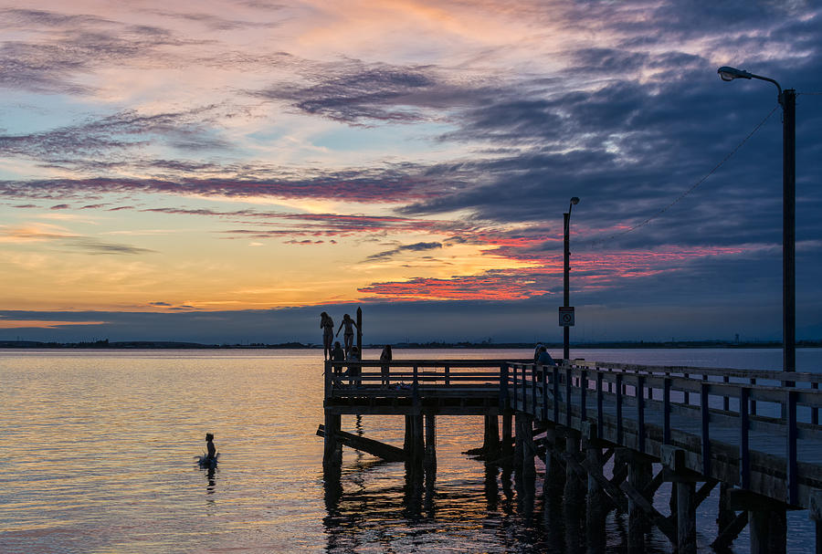 Teenagers Photograph - Summer Solstice At Crescent Beach by Paul W Sharpe Aka Wizard of Wonders