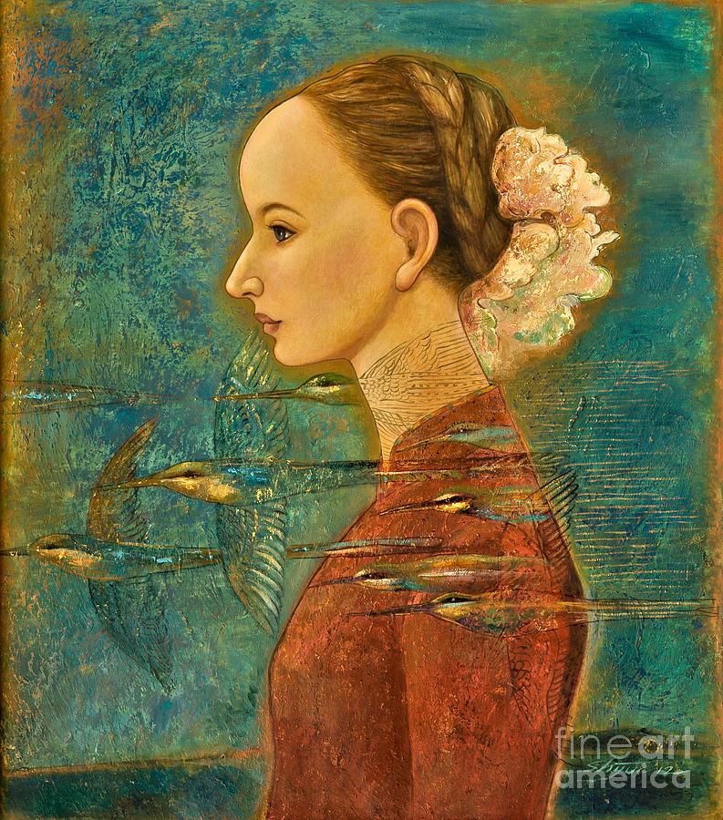 Figurative Painting - Summer Song by Shijun Munns