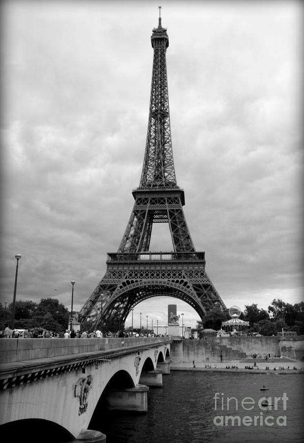 Architecture Photograph - Summer Storm Over The Eiffel Tower by Carol Groenen