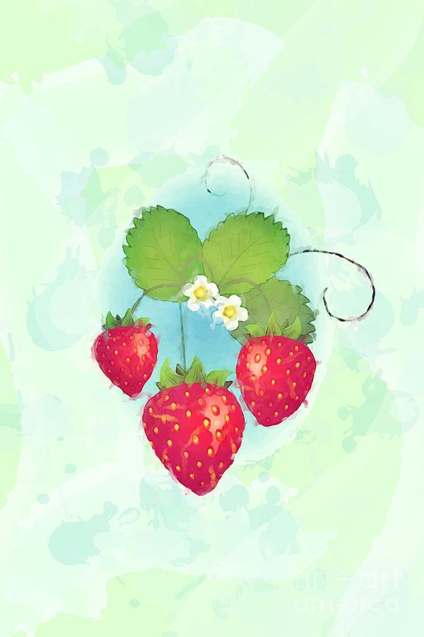 Strawberry Photograph - Summer Strawberries by Jane Rix
